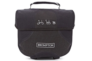 Brompton Mini O Bag in Reflective Black