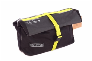 Brompton Roll Top Bag in Grey, Black and Lime Green