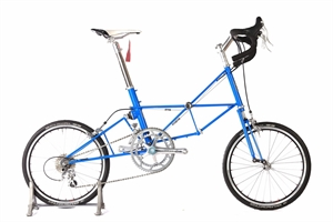 Moulton Jubilee Bugati Blue Completed Bike