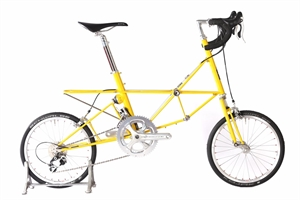 "Moulton AM 22 Yellow Headtube 12.5"" Polished Highlights"