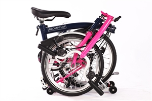Brompton M6R Tempest Blue/Hot Pink