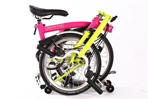 Brompton M6R Hotpink/Lime Green