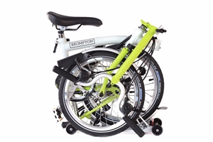Brompton M6R Papyrus White / Lime Green