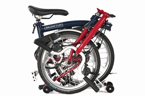 Brompton M6R Tempest Blue / House Red