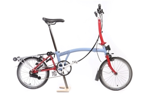 Brompton M6R Cloud Blue / House Red