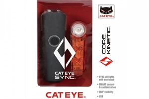 CatEye SYNC Core and Kinetic Front and Rear Light Set