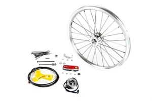 Hub dynamo set:   front wheel, cables, fittings, front + rear lamp - (SV8)