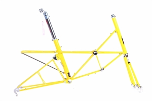 "Moulton AM22 Yellow Polished Highlights with Day carrier 12.5""Headtube"