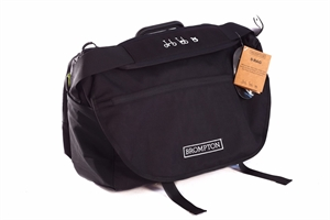 Brompton   S Bag in Black - Black flap