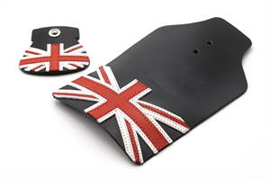 Erdeeni Leather Mudguard Flap Black for Brompton