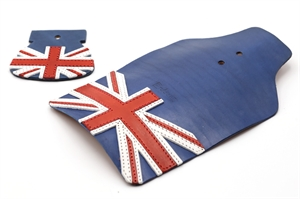 Erdeeni Leather Mudguard Flap Blue for Brompton